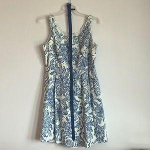 Jessica Howard Printed Dress with Belt